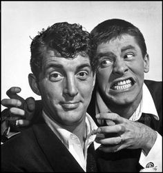 Dean Martin and Jerry Lewis, one of the best comedy teams of all time.