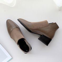Half Shoes, Me Too Shoes, Heeled Boots, Shoe Boots, Shoes Heels, Block Heel Boots, Block Heels, Best Ankle Boots, Unique Shoes