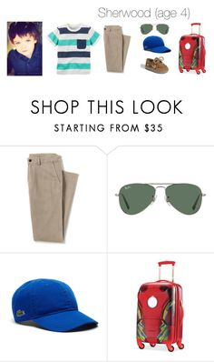 """Sherwood - going to the lake"" by blonde-prepster ❤ liked on Polyvore featuring Carter's, Lands' End, Ray-Ban, Lacoste, Sperry and Samsonite"