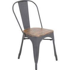 Showcasing a wood seat and metal frame, this rustic side chair is perfect pulled up to your dining table or writing desk.    Produ...