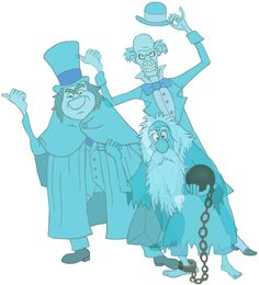 Hitchhiking Ghosts: Ezra, Phineas, and Gus Disney Halloween, Vintage Halloween, Halloween Fun, Halloween Garland, Halloween Makeup, Halloween Costumes, Haunted Mansion Disney, Haunted Mansion Tattoo, Disney Theme