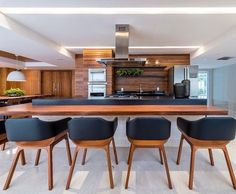 Kitchens planned: see brands, designs and incredible photos - Home Fashion Trend Modern Grey Kitchen, Grey Kitchen Designs, Kitchen Room Design, Grey Kitchens, Modern Farmhouse Kitchens, Home Decor Kitchen, New Kitchen, Home Kitchens, Kitchen Dining