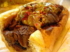 Al's Italian Beef Chicago with Hot Peppers.