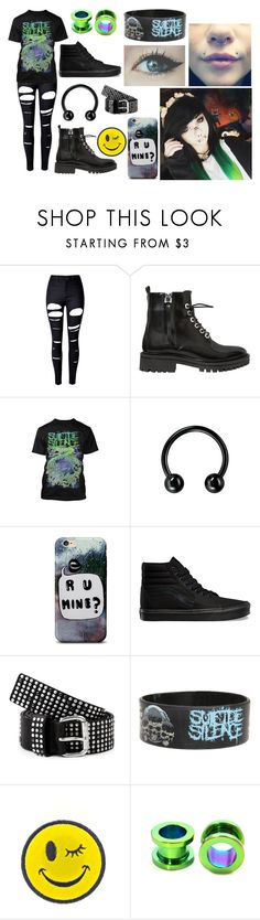 """""""SS Shirt"""" by abipatterson ❤ liked on Polyvore featuring WithChic, Kendall + Kylie, Vans, Liebeskind, Hot Topic and Ana Accessories"""