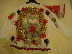 deb's woman's ugly Christmas sweater plus size 1x 18 20 cat kitten hat party winner by keriblue4 on Etsy
