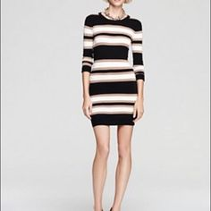 Salefrench Connection Bambistripesweaterdress Xs