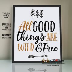 Wild one First Birthday Party sign Poster Wild & free sign printable Birthday decoration Wild one birthday decor Nursery (Halloween Signs Birthday Parties)