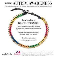 We are supporting Autism Awareness | Stella & Dot http://www.stelladot.com/angiehurlburt