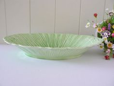 Crown Ducal  vintage 1940's dish Green dish by MaddyVintageHostess