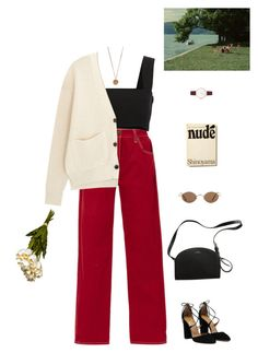 A fashion look from February 2018 featuring striped top, crop tops and red jeans. Browse and shop related looks. Daily Fashion, Girl Fashion, Fashion Outfits, Retro Fashion, Classy Outfits, Trendy Outfits, Vintage Outfits, Really Cute Outfits, Evening Outfits
