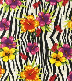 Novelty Quilt Fabric-Wild Hibiscus at Joann.com