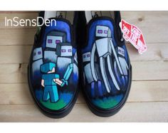 Hand Painted Minecraft VANS YOUTH SIZING