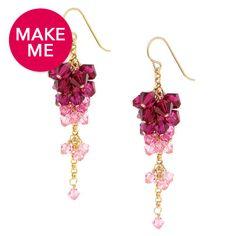 Raspberry Drops Earrings
