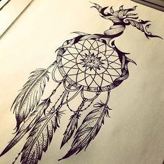 apanhador de sonhos tattoo na coxa - Pesquisa Google