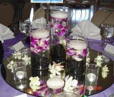 centros de mesa con floreros y velas - Google Search