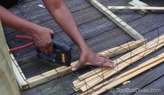 How To Easily Build and Install Deck Railing – ToolBox Divas - how to build a fence Cattle Panel Fence, Hog Wire Fence, Cattle Panels, Dog Fence, Fence Gate, Pallet Decking, Pallet Fence, Outdoor Decking, Outdoor Play