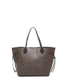 Louis Vuitton Pre-Owned Louis Vuitton Damier Ebene Neverfull MM Tote Bag