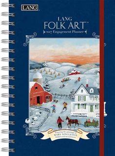 Lang Folk Art 2017 Spiral Engagement Planner , 17991011086   Lang