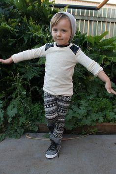 Max California: Kids Clothes Week: Alpine Punk...that leather sleeve shirt is awesome