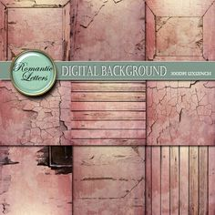 Digital  scrapbook  paper  pack digital by RomanticLetters on Etsy