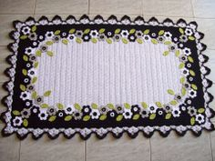 Crochet floral applique
