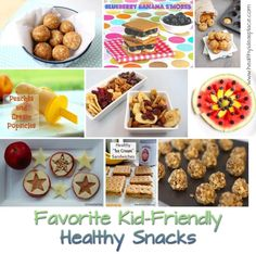 Favorite Kid Friendly Healthy Snacks - Mom and dietitian approved!