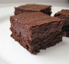 Chocolate Cheesecake Brownies. I made these the other night. They're super rich and delicious!