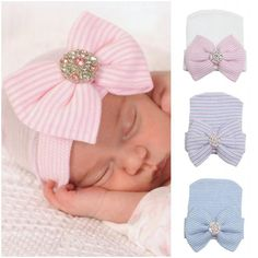 7cc09e4f084ba Newborn Baby Cute and Pretty Beanie Hat With Big Bow Baby Infant Girl Soft  Warm Hospital Hat Cap for 0-3 Month