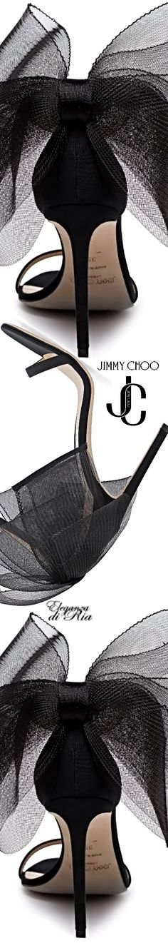 #jimmychoo #mesh #bow #sandal Eleganza di Ria Jimmy Choo #eleganzadiria