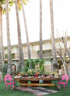 Tropical wedding inspiration | Photography:@iheartmygroom | Venue: @thegoodlandsb | Event design: @bijouxevents | Florals:@ella_and_louie|Catering:@thegoodlandsb | Tabletop rentals:@otisandpearl | Furniture rentals:@elaneventrentals | Linen:@latavolalinen |
