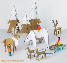 Kids Crafts, Christmas Crafts For Kids, Christmas Decorations, Crafts Cheap, Childrens Christmas, Cheap Christmas, Holiday Decor, Christmas Ideas, Cardboard Animals