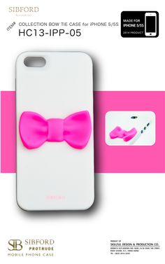 BOW TIE iPHONE CASE MODEL  HC13-IPP-05 FOR PHONE  iPHONE 5 5S COLOR  WHITE  CASE 11feaab701b2c