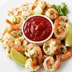 Drunken Shrimp Cocktail from Stonewall Kitchen Drunken Shrimp Recipe, Shrimp Recipes, Fish Recipes, Shrimp Appetizers, Yummy Appetizers, Appetizer Recipes, Stonewall Kitchen, Cooking Wine, Kitchen Recipes
