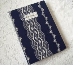 A5 Handmade journal with Vintage fabric £14.95