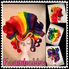 Foam Wigs, Pride Outfit, Weaving Textiles, Wig Making, Headdress, Pageant, Fancy Dress, Art Decor, Hair Beauty