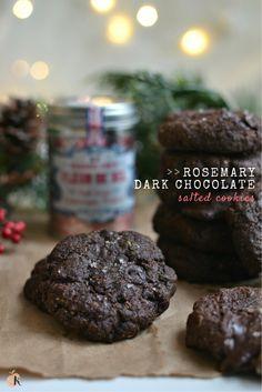 Vegan and Gluten Free Rosemary Dark Chocolate Salted Cookies | http://www.radiantrachels.com/vegan-rosemary-dark-chocolate-salted-cookies/