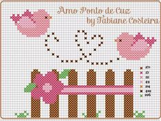 Bunlara hayranım Cross Stitch Heart, Cross Stitch Borders, Cross Stitch Alphabet, Cross Stitch Flowers, Cross Stitch Designs, Cross Stitching, Cross Stitch Embroidery, Cross Stitch Patterns, Fuse Bead Patterns
