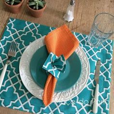 Table Set Up, Napkin Folding, Fall Table, Easy Diy Crafts, Decoration Table, Summer Crafts, Christmas Projects, Handmade Art, Napkins