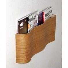 Modern Wooden Magazine Wall Rack | Shelterness