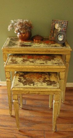 Vintage Italian Florentine Nesting Tables by RevisitedConcepts, $189.00