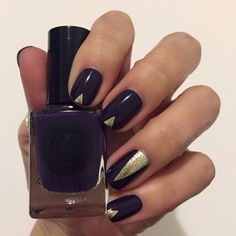 Tapped mani with Cirque Colors' Velvet Underground and Reflektor.