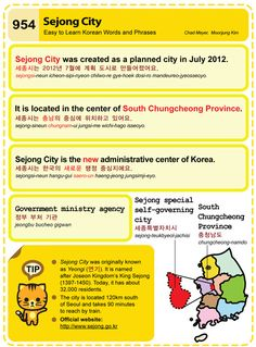 Easy to Learn Korean 954 - Sejong City. Chad Meyer and Moon-Jung Kim EasytoLearnKorean.com An Illustrated Guide to Korean
