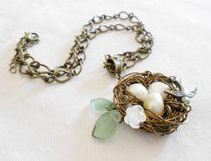 Handmade Bird's Nest Necklace