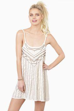 Deco Luxe Beaded Cami Dress