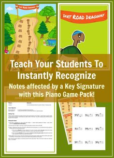 Is the note on the card affected by the key signature? Your students will be pros at instantly knowing the answer to this question. Improve sight reading skills immensely with this printable piano game. A part of May's game set (4 games for $8) at www.pianogameclub.com *only available until May 29, 2016