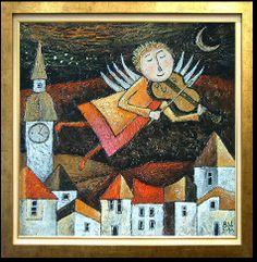 Painting, naive art, color... www.beatawilczewska.pl