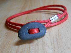 Beach Stone Jewelry - Sea Pebble Wrap Bracelet - STONED. $15.00, via Etsy.