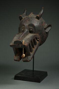 Ethnographic & Tribal Arts | Helmet Mask Kunugbaha with Good Age and Personality - The Curator's Eye
