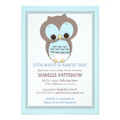 Candy Child Owl Boy Whoo Child Bathe Invitation. ** See more by checking out the image link