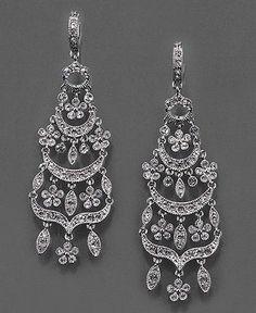 Monet Earrings, Crystal Accented Chandelier